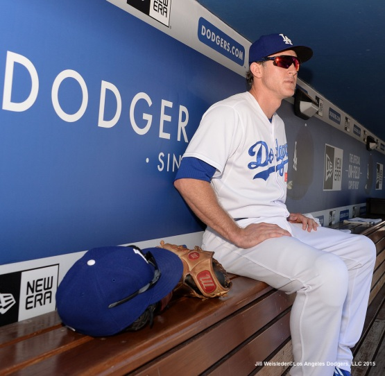 Chase Utley gets ready for the game. Jill Weisleder/LA Dodgers