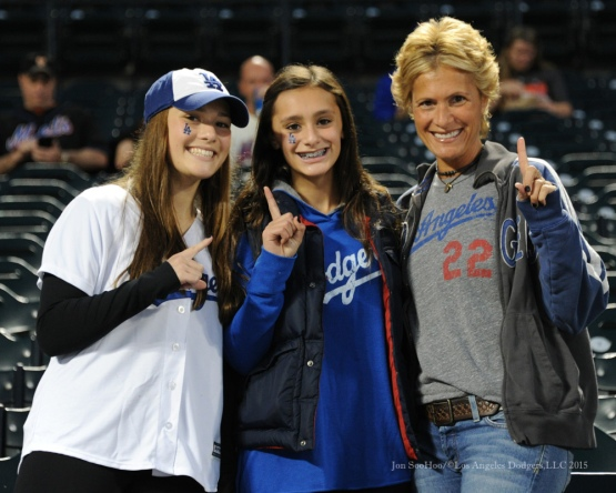 Great Dodger Fans--2015 NLDS-Game Four-Los Angeles Dodgers vs New York Mets Tuesday, October 13, 2015 at Citi Field in Flushing, New York.  Photo by Jon SooHoo /©Los Angeles Dodgers,LLC 2015