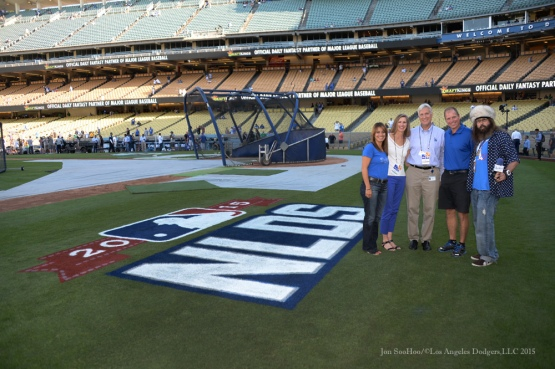 Kim and Mark Walter and guests--NLDS-Game One-Los Angeles Dodgers vs New York Mets Friday, October 9, 2015 at Dodger Stadium in Los Angeles, California.  Photo by Jon SooHoo /©Los Angeles Dodgers,LLC 2015
