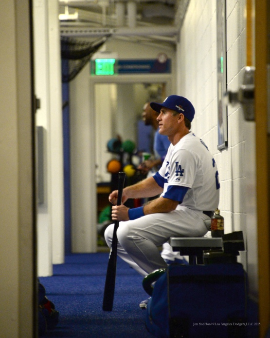 Chase Utley--NLDS-Game One-Los Angeles Dodgers vs New York Mets Friday, October 9, 2015 at Dodger Stadium in Los Angeles, California.  Photo by Jon SooHoo /©Los Angeles Dodgers,LLC 2015