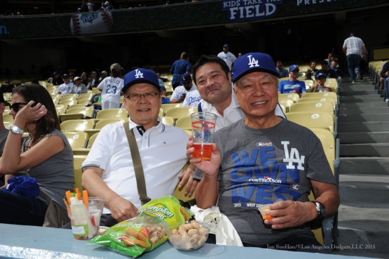Los Angeles Dodgers vs San Diego Padres Sunday, October 4, 2015 at Dodger Stadium in Los Angeles, California.  Photo by Jon SooHoo /©Los Angeles Dodgers,LLC 2015