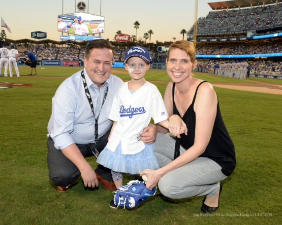 The Annear family--NLDS-Game One-Los Angeles Dodgers vs New York Mets Friday, October 9, 2015 at Dodger Stadium in Los Angeles, California.  Photo by Jon SooHoo /©Los Angeles Dodgers,LLC 2015