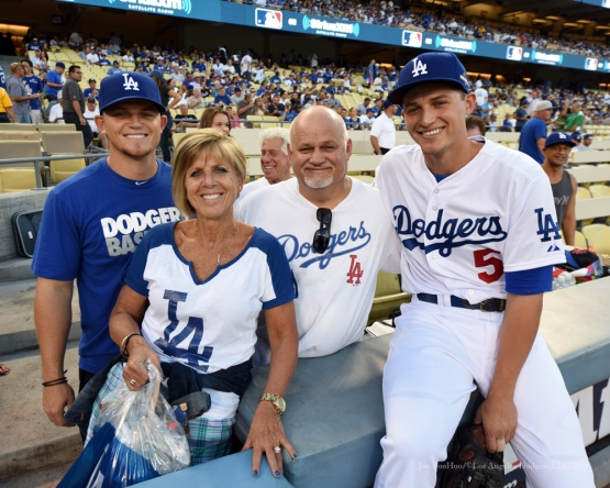 The Seager Family--NLDS-Game One-Los Angeles Dodgers vs New York Mets Friday, October 9, 2015 at Dodger Stadium in Los Angeles, California.  Photo by Jon SooHoo /©Los Angeles Dodgers,LLC 2015