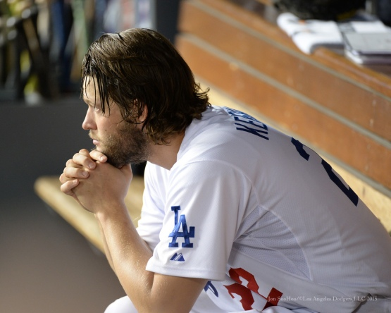 Clayton Kershaw--NLDS-Game One-Los Angeles Dodgers vs New York Mets Friday, October 9, 2015 at Dodger Stadium in Los Angeles, California.  Photo by Jon SooHoo /©Los Angeles Dodgers,LLC 2015
