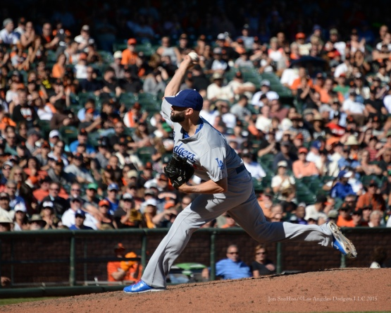 Chris Hatcher---Los Angeles Dodgers vs San Francisco Giants Wednesday October 1, 2015 at AT&T Park in San Francisco, California.  Photo by Jon SooHoo /©Los Angeles Dodgers,LLC 2015