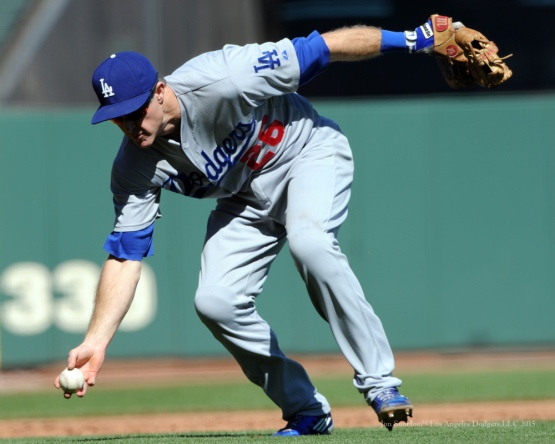 Chase Utley--Los Angeles Dodgers vs San Francisco Giants Wednesday October 1, 2015 at AT&T Park in San Francisco, California.  Photo by Jon SooHoo /©Los Angeles Dodgers,LLC 2015