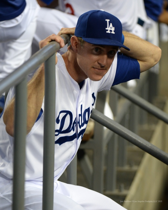 Chase Utley--Los Angeles Dodgers vs San Diego Padres Saturday, October 3, 2015 at Dodger Stadium in Los Angeles, California.  Photo by Jon SooHoo /©Los Angeles Dodgers,LLC 2015