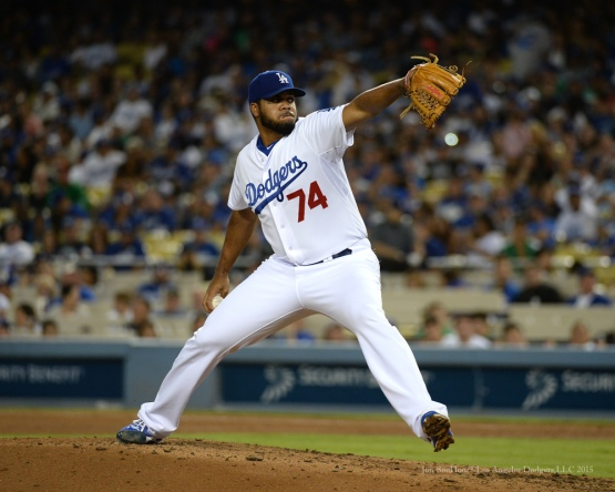 Kenley Jansen--Los Angeles Dodgers vs San Diego Padres Saturday, October 3, 2015 at Dodger Stadium in Los Angeles, California.  Photo by Jon SooHoo /©Los Angeles Dodgers,LLC 2015