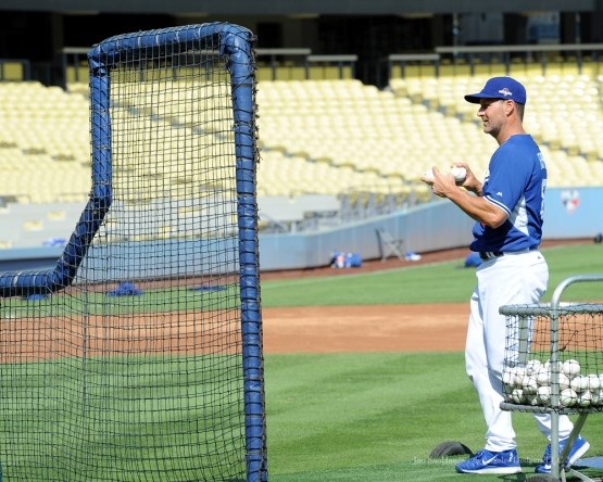 Rob Flippo--Los Angeles Dodgers work out Tuesday, October 6, 2015 at Dodger Stadium in Los Angeles, California. Photo by Jon SooHoo /©Los Angeles Dodgers,LLC 2015
