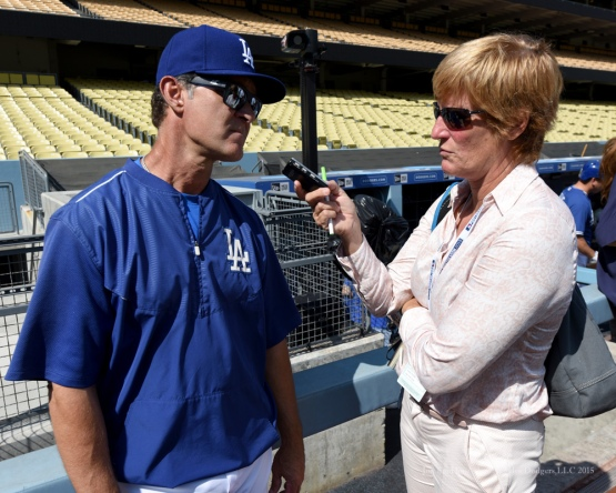Don Mattingly--Los Angeles Dodgers work out Tuesday, October 6, 2015 at Dodger Stadium in Los Angeles, California. Photo by Jon SooHoo /©Los Angeles Dodgers,LLC 2015