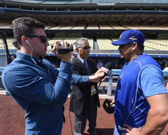 Joel Peralta--Los Angeles Dodgers work out Tuesday, October 6, 2015 at Dodger Stadium in Los Angeles, California. Photo by Jon SooHoo /©Los Angeles Dodgers,LLC 2015