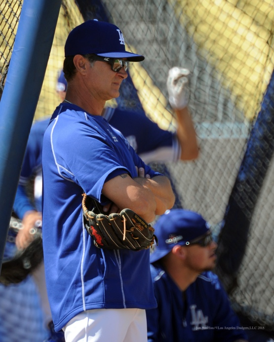 Don Mattingly--Los Angeles Dodgers workout Wednesday, October 7, 2015 at Dodger Stadium in Los Angeles, California.  Photo by Jon SooHoo /©Los Angeles Dodgers,LLC 2015