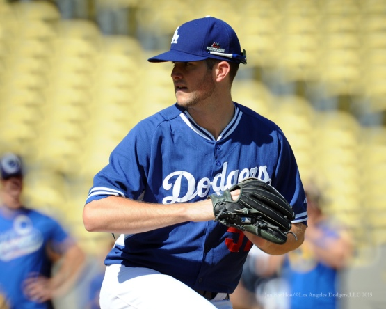 Alex Wood--Los Angeles Dodgers workout Wednesday, October 7, 2015 at Dodger Stadium in Los Angeles, California.  Photo by Jon SooHoo /©Los Angeles Dodgers,LLC 2015