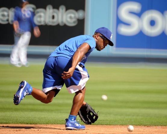 Jimmy Rollins--Los Angeles Dodgers workout Wednesday, October 7, 2015 at Dodger Stadium in Los Angeles, California.  Photo by Jon SooHoo /©Los Angeles Dodgers,LLC 2015