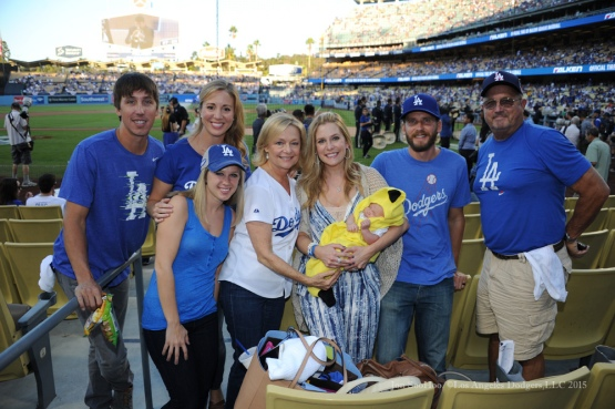 Greinke Family and friends--NLDS-Game Two-Los Angeles Dodgers vs New York Mets Saturday, October 10, 2015 at Dodger Stadium in Los Angeles, California.  Photo by Jon SooHoo /©Los Angeles Dodgers,LLC 2015