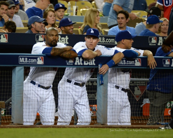 NLDS-Game Two-Los Angeles Dodgers vs New York Mets Saturday, October 10, 2015 at Dodger Stadium in Los Angeles, California.  Photo by Jon SooHoo /©Los Angeles Dodgers,LLC 2015