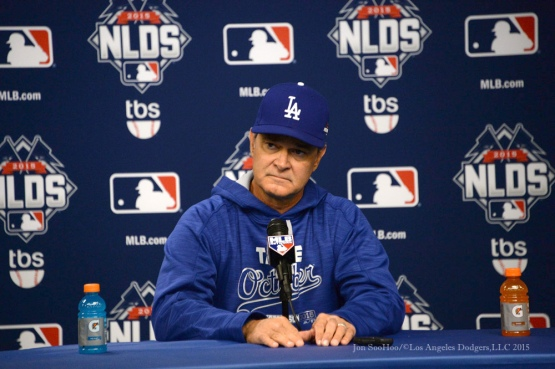 Don Mattingly--2015 NLDS-Game Three-Los Angeles Dodgers vs New York Mets Monday, October 12, 2015 at Citi Field in Flushing, New York.  Photo by Jon SooHoo /©Los Angeles Dodgers,LLC 2015