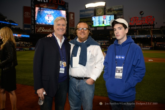 Mark Walter and guests--2015 NLDS-Game Three-Los Angeles Dodgers vs New York Mets Monday, October 12, 2015 at Citi Field in Flushing, New York.  Photo by Jon SooHoo /©Los Angeles Dodgers,LLC 2015