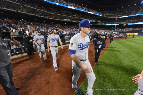 Chase Utley--2015 NLDS-Game Three-Los Angeles Dodgers vs New York Mets Monday, October 12, 2015 at Citi Field in Flushing, New York.  Photo by Jon SooHoo /©Los Angeles Dodgers,LLC 2015