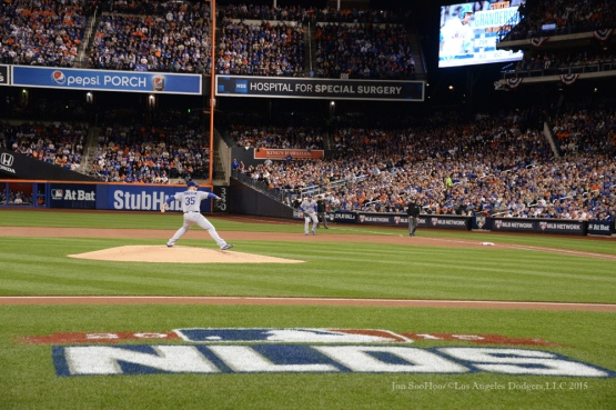 Brett Anderson--2015 NLDS-Game Three-Los Angeles Dodgers vs New York Mets Monday, October 12, 2015 at Citi Field in Flushing, New York.  Photo by Jon SooHoo /©Los Angeles Dodgers,LLC 2015