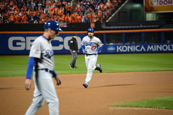 Adrian Gonzalez homers--2015 NLDS-Game Three-Los Angeles Dodgers vs New York Mets Monday, October 12, 2015 at Citi Field in Flushing, New York.  Photo by Jon SooHoo /©Los Angeles Dodgers,LLC 2015