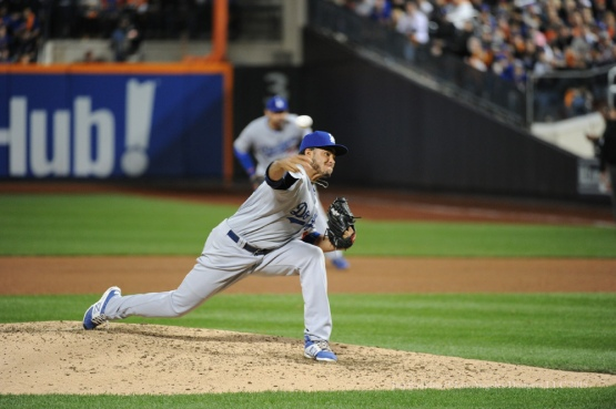 Yimi Garcia--2015 NLDS-Game Three-Los Angeles Dodgers vs New York Mets Monday, October 12, 2015 at Citi Field in Flushing, New York.  Photo by Jon SooHoo /©Los Angeles Dodgers,LLC 2015