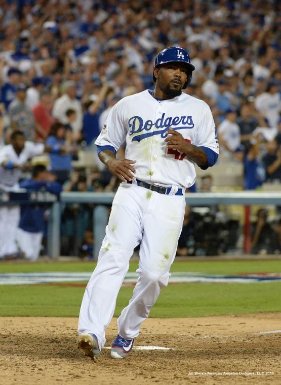 Howie Kendrick comes in to score. Jill Weisleder/Dodgers