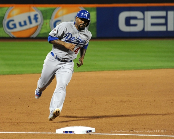 Howie Kendrick--2015 NLDS-Game Four-Los Angeles Dodgers vs New York Mets Tuesday, October 13, 2015 at Citi Field in Flushing, New York.  Photo by Jon SooHoo /©Los Angeles Dodgers,LLC 2015
