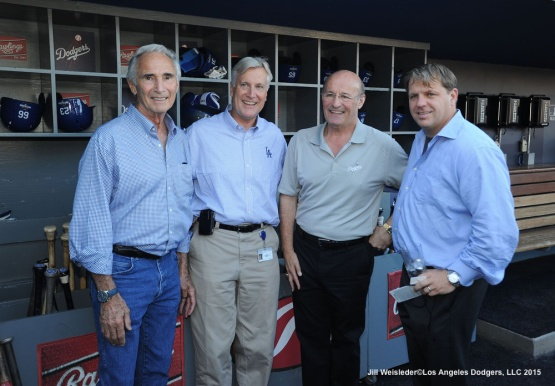 Sandy Koufax, and Dodger owners Mark Walter, Stan Kasten and Todd Boehly pose for a photo. Jill Weisleder/Dodgers