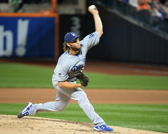 Clayton Kershaw--2015 NLDS-Game Four-Los Angeles Dodgers vs New York Mets Tuesday, October 13, 2015 at Citi Field in Flushing, New York.  Photo by Jon SooHoo /©Los Angeles Dodgers,LLC 2015