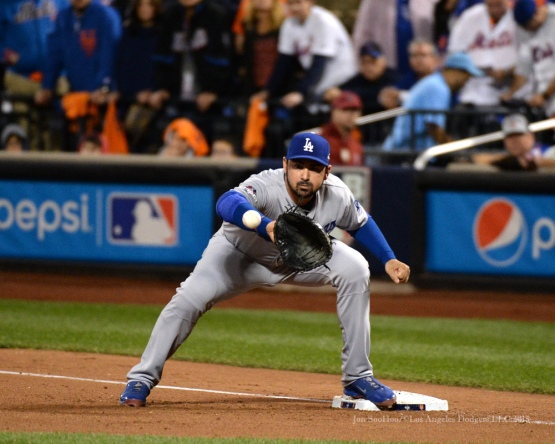 Adrian Gonzalez--2015 NLDS-Game Four-Los Angeles Dodgers vs New York Mets Tuesday, October 13, 2015 at Citi Field in Flushing, New York.  Photo by Jon SooHoo /©Los Angeles Dodgers,LLC 2015