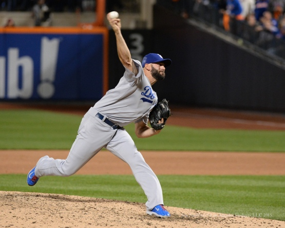 Chris Hatcher--2015 NLDS-Game Four-Los Angeles Dodgers vs New York Mets Tuesday, October 13, 2015 at Citi Field in Flushing, New York.  Photo by Jon SooHoo /©Los Angeles Dodgers,LLC 2015