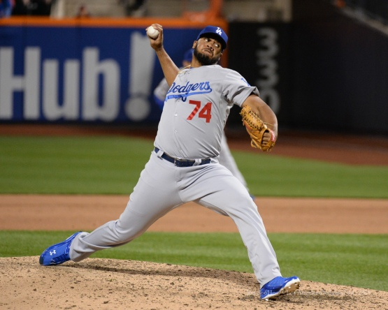 Kenley Jansen--2015 NLDS-Game Four-Los Angeles Dodgers vs New York Mets Tuesday, October 13, 2015 at Citi Field in Flushing, New York.  Photo by Jon SooHoo /©Los Angeles Dodgers,LLC 2015