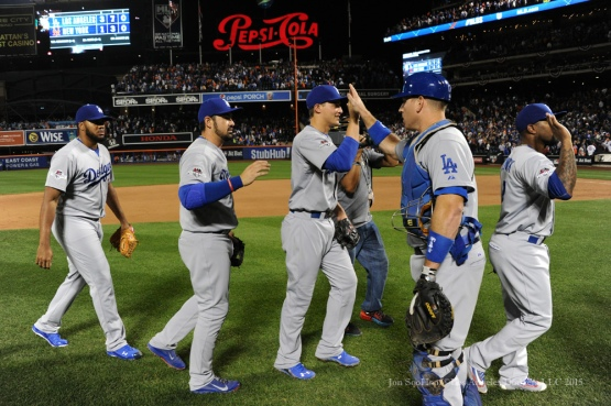 Dodgers win Game 4 against the Mets 3-1---2015 NLDS-Game Four-Los Angeles Dodgers vs New York Mets Tuesday, October 13, 2015 at Citi Field in Flushing, New York.  Photo by Jon SooHoo /©Los Angeles Dodgers,LLC 2015