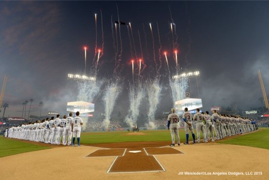 The Los Angeles Dodgers vs the New York Mets for Game 1 of the NLDS at Dodger Stadium. Jill Weisleder/Dodgers