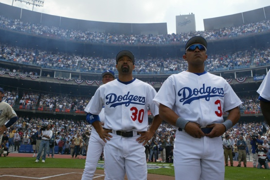 APRIL 5, 2004--LOS ANGELES,CALIFORNIA--OPENING DAY 2004--SAN DIEGO PADRES  VS LOS ANGELES DODGERS AT DODGERS STADIUM , CALIFORNIA ©JON SOOHOO