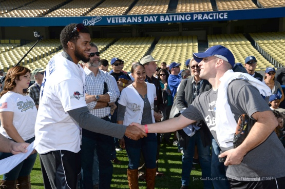 Los Angeles Dodgers Veterans Day Batting Practice Wednesday, November 18, 2015 at Dodger Stadium in Los Angeles,California. Photo by Jon SooHoo/©Los Angeles Dodgers,LLC 2015