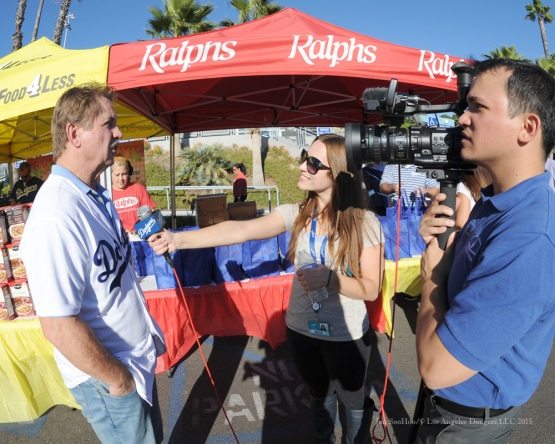 Ron Cey speaks to the media during the Los Angeles Dodgers Thanksgiving Turkey Giveaway Thursday, November 19, 2015 in Los Angeles,California. Photo by Jon SooHoo/©Los Angeles Dodgers,LLC 2015