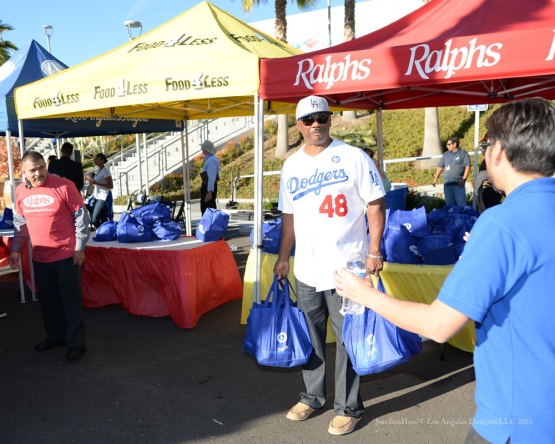 Dennis Powell during the Los Angeles Dodgers Thanksgiving Turkey Giveaway Thursday, November 19, 2015 in Los Angeles,California. Photo by Jon SooHoo/©Los Angeles Dodgers,LLC 2015