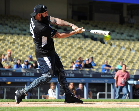 Brian Wilson--Adrian Gonzalez's Bat4Hope Softball Game  Saturday, November 7, 2015 at Dodger Stadium.  Photo by Jon SooHoo/©Los Angeles Dodgers,LLC 2015
