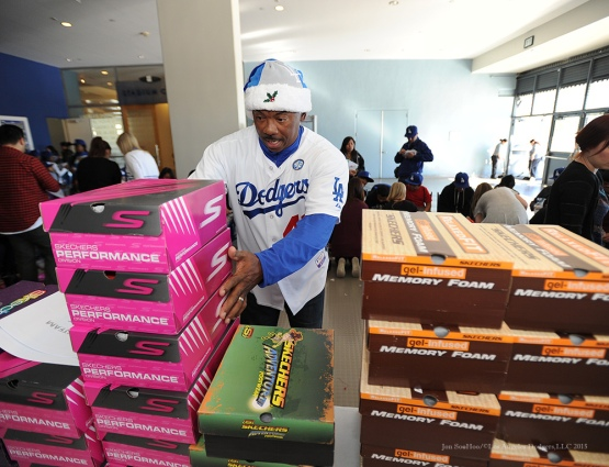 Los Angeles Dodgers and the Los Angeles Dodgers Foundation Children's Holiday Party Friday December 18, 2015 at Dodger Stadium. Photo by Jon SooHoo/©Los Angeles Dodgers,LLC 2015