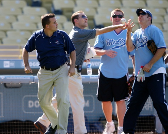Los Angeles Dodgers Media Game Sunday, July 1, 2007 at Dodger Stadium in Los Angeles,California. (© Jon SooHoo/LA Dodgers 2007)