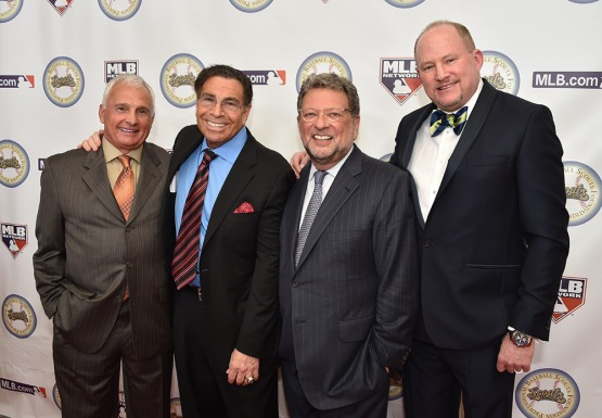 Terry Collins, Dennis Gilbert, Charley Steiner and Bob Nightengale-13th Annual Pro Baseball Scouts Foundation Awards Dinner Saturday, January 17,2016 at the Beverly Hilton in Beverly Hills, California. Photo by Jon SooHoo/©Los Angeles Dodgers,LLC 2016