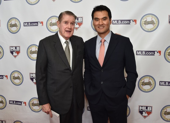 Peter Omalley and Chan Ho Park-13th Annual Pro Baseball Scouts Foundation Awards Dinner Saturday, January 17,2016 at the Beverly Hilton in Beverly Hills, California. Photo by Jon SooHoo/©Los Angeles Dodgers,LLC 2016