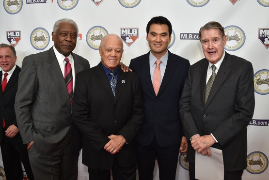 Bill White, Maury Wills, Chan Ho Park and Peter Omalley-13th Annual Pro Baseball Scouts Foundation Awards Dinner Saturday, January 17,2016 at the Beverly Hilton in Beverly Hills, California. Photo by Jon SooHoo/©Los Angeles Dodgers,LLC 2016
