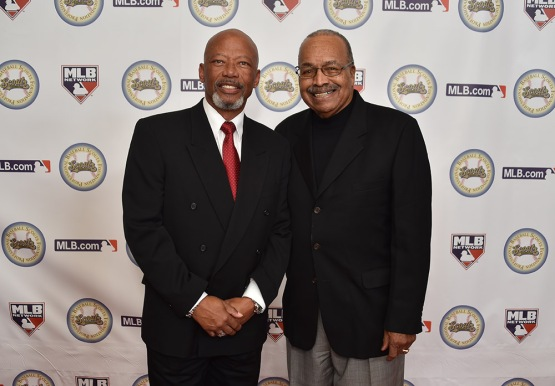 Derrel Thomas and Tommy Davis--13th Annual Pro Baseball Scouts Foundation Awards Dinner Saturday, January 17,2016 at the Beverly Hilton in Beverly Hills, California. Photo by Jon SooHoo/©Los Angeles Dodgers,LLC 2016