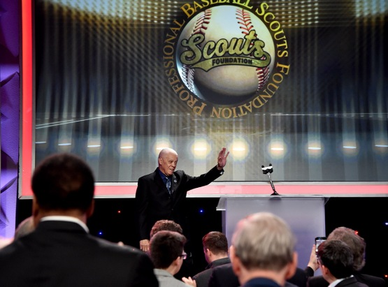 Maury Wills--13th Annual Pro Baseball Scouts Foundation Awards Dinner Saturday, January 17,2016 at the Beverly Hilton in Beverly Hills, California. Photo by Jon SooHoo/©Los Angeles Dodgers,LLC 2016