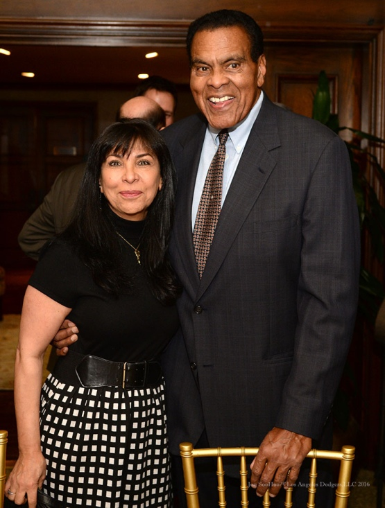 Mr and Mrs Tommy Hawkins--Southern California Sports Broadcasters Luncheon Monday, January 25, 2016 at Lakeside Country Club in Burbank,CA. Photo by Jon SooHoo/ © Los Angeles Dodgers,LLC 2016