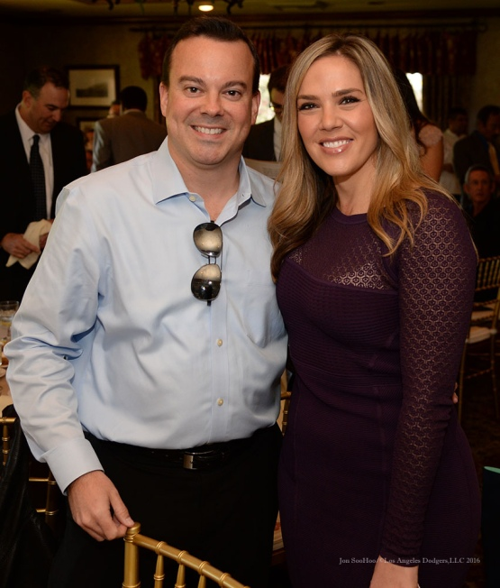 Joe Jareck and Jaime Quinn-Southern California Sports Broadcasters Luncheon Monday, January 25, 2016 at Lakeside Country Club in Burbank,CA. Photo by Jon SooHoo/ © Los Angeles Dodgers,LLC 2016