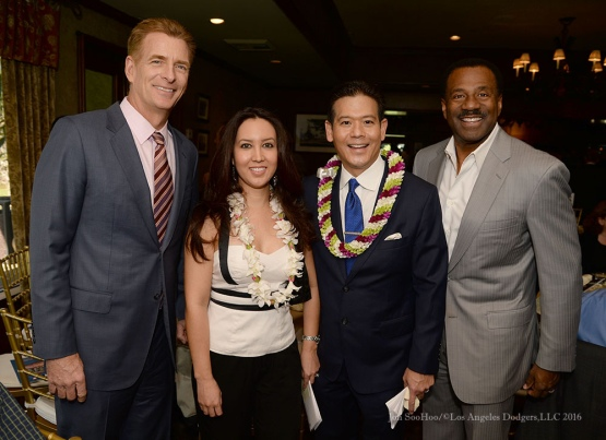 KABC crew--Southern California Sports Broadcasters Luncheon Monday, January 25, 2016 at Lakeside Country Club in Burbank,CA. Photo by Jon SooHoo/ © Los Angeles Dodgers,LLC 2016